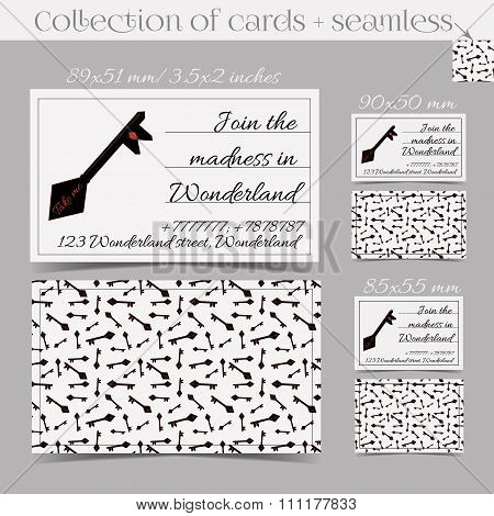 Cards Templates - Key from Wonderland.