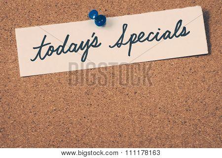 Today's Specials