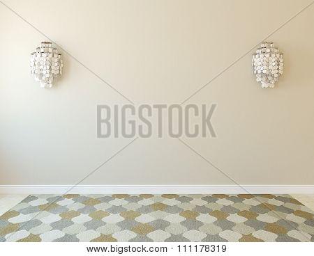 Interior Empty Room. 3d render.