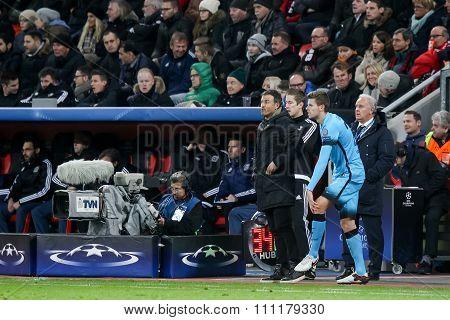 Gerard Gumbau During The Uefa Champions League Game Between Bayer 04 Leverkusen Vs Barcelona At Baya