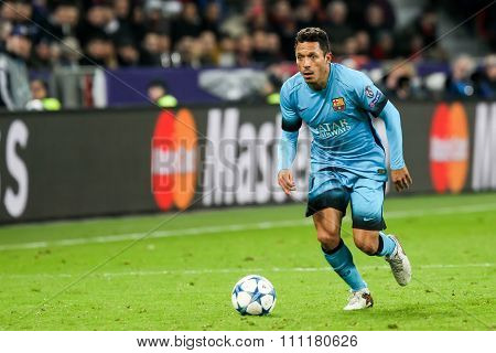 Adriano Correia During The Uefa Champions League Game Between Bayer 04 Leverkusen Vs Barcelona At Ba