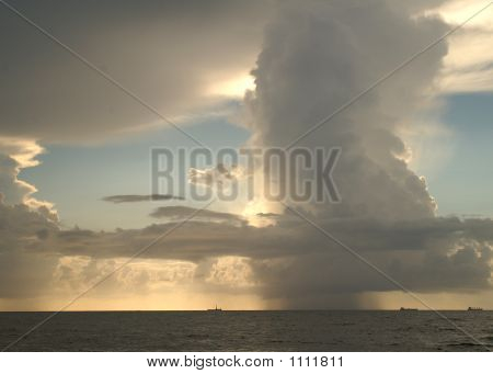 Picture or Photo of (Sky and storm offshore mourning shot)