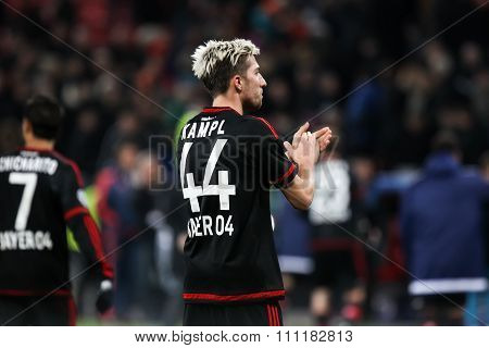 Kevin Kampl During The Uefa Champions League Game Between Bayer 04 Leverkusen Vs Barcelona At Bayare