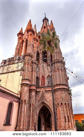 Facade Parroquia Christmas Church San Miguel Mexico