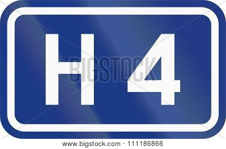 Slovenian Road Sign - Expressway Number H 4
