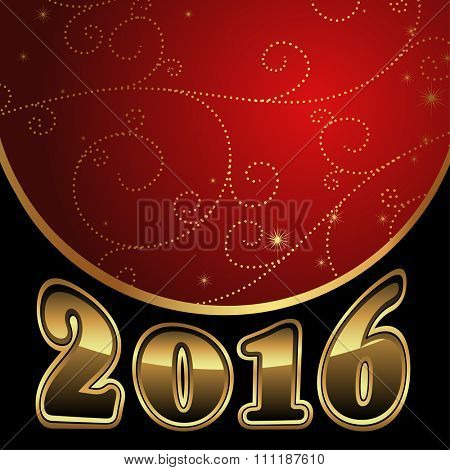 2016 New Year card, vector