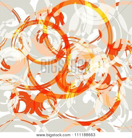 Vector  boho seamless pattern with red circle shapes. Print texture perfect for sport fashion.
