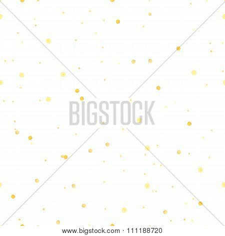 Hand Drawn golden soft circles seamless patter made with ink.  Vector design for advertisement, gree