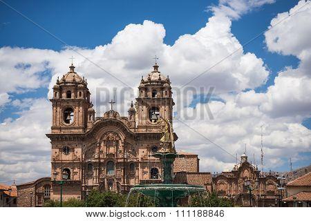 Cathedral Close Up In Cusco, Peru