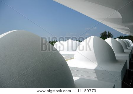 Small dome of An-Nur Mosque or UTP Mosque in Malaysia