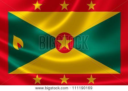Close Up Of Grenada's Flag