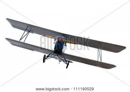 isolated airplane against white