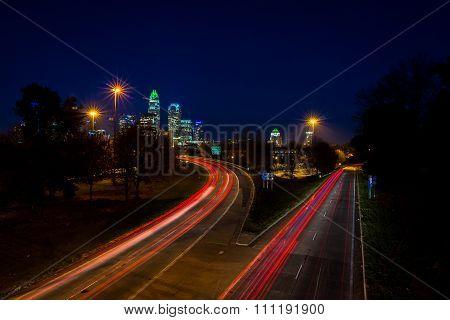 Evening Rush Hour Commute In Charlotte, North Carolina