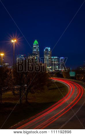 Evening Rush Hour Commute In Charlotte, North Carolina 2
