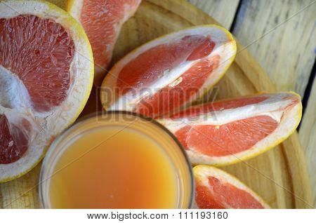 grapefruit and juice