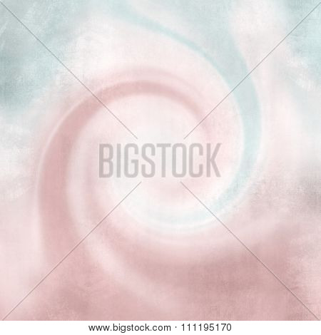 Pink abstract wavy retro design - twirl background in soft vintage colors - curved lines
