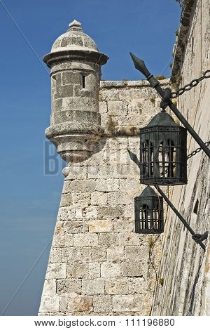 Ancient Watchtower With Lanterns