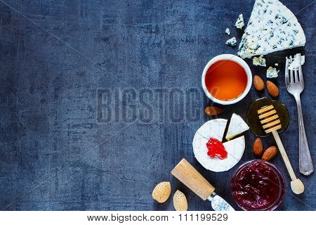 Cheese On Stone Background