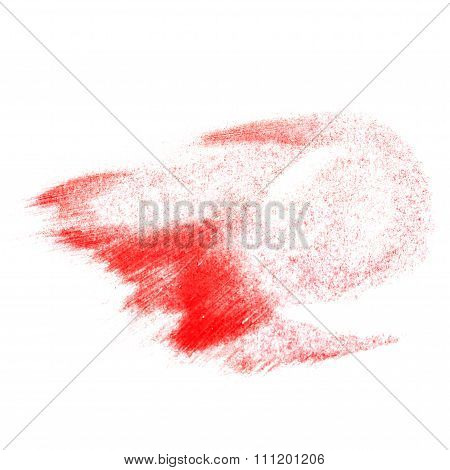 Red Lipstick Dab. Abstract Illustration.