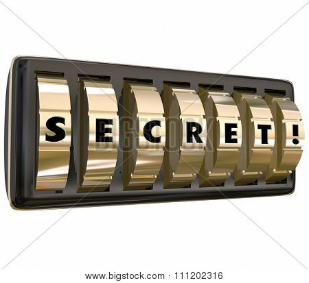Secret letters on gold dials locking important personal information requiring password to open