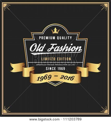 Old Fashion Frame & Label Design