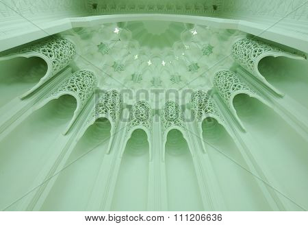 Architectural detail at An-Nur Mosque a.k.a Petronas Technology University Mosque