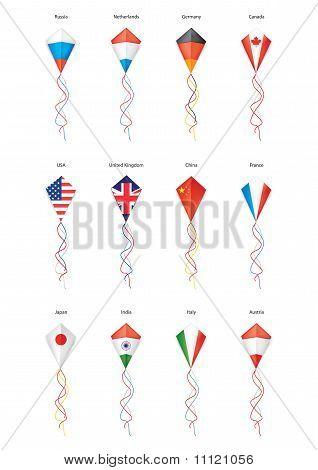 Flags, Kite Flying