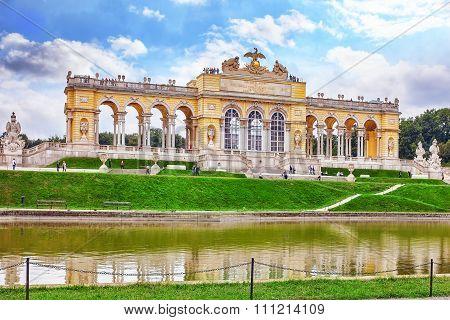 Vienna, Austria-september 10, 2015: Upper Belvedere. Main Palace Complex Belvedere.vienna. Austria.