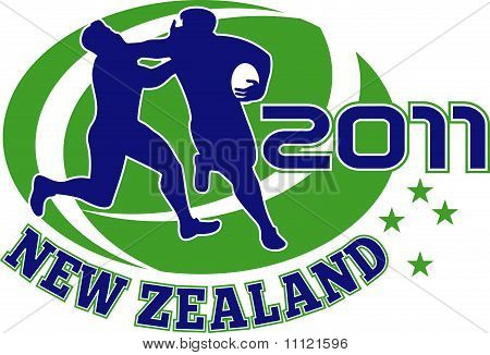Rugby player fending new zealand 2011