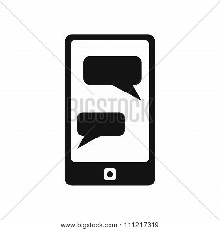 Messages on phone simple icon
