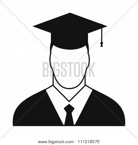 Graduate simple icon