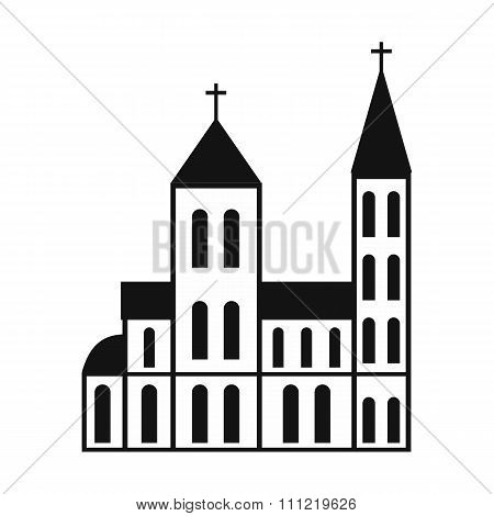 Catholic church simple icon