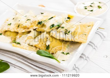 Ravioli With Spinach And Ricotta Cheese