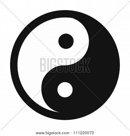 Yin yang simple icon