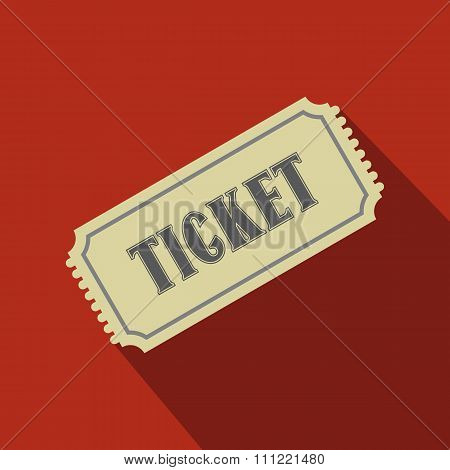 Vintage ticket flat icon