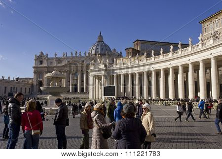Saint Peters Basilica And Its Colonnade