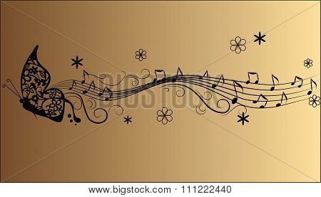 Abstract melody Music notes composition