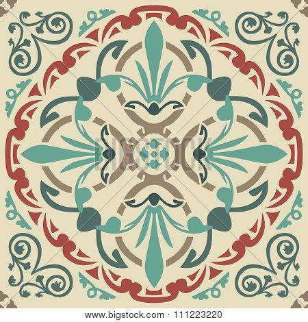 Seamless elegant Ornamental pattern.Ceramic tiles. Orient traditional ornament. Oriental and ethnic