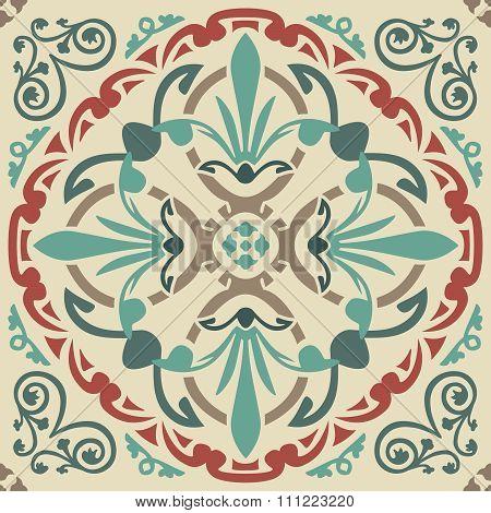 Seamless elegant Ornamental pattern.Ceramic tiles. Orient traditional ornament. Oriental and ethnic