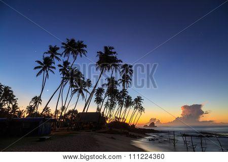 Sunrise At The Beach In Sri Lanka