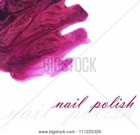 Nail Polish Splashes Isolated On White