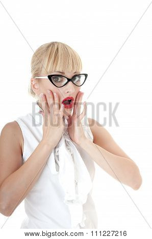 Crazy Business Woman In Stress Situation