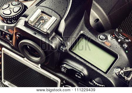 Closeup Of Professional Digital Camera