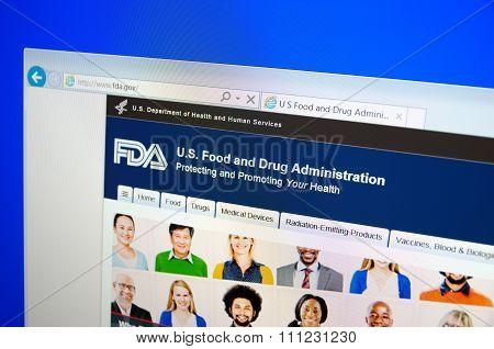 Food and Drug Administration main page