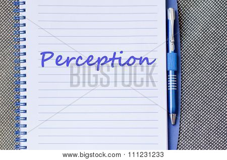 Perception Write On Notebook