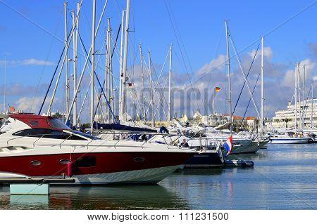 Luxury yachts in Vilamoura Marina