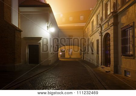 Street Of The Old City In Warsaw