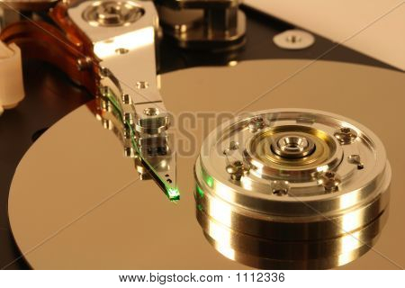 Hard Disk With Green Laser Light