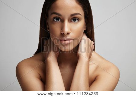 Clean Skin Portrait Of Spanish Woman