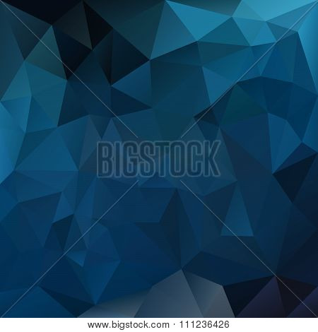 Vector Polygon Background With Irregular Tessellation Pattern - Triangular Geometric Design
